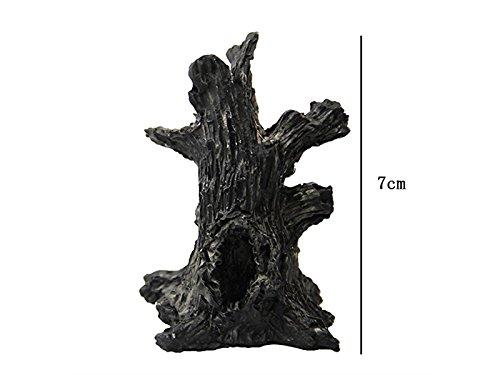 Mikro Micro Trunk Baum Loch Landschaft DIY Dekoration Harz Miniatur Handwerk Ornament für Garten Bonsai (Schwarz) Landschaftsdekoration