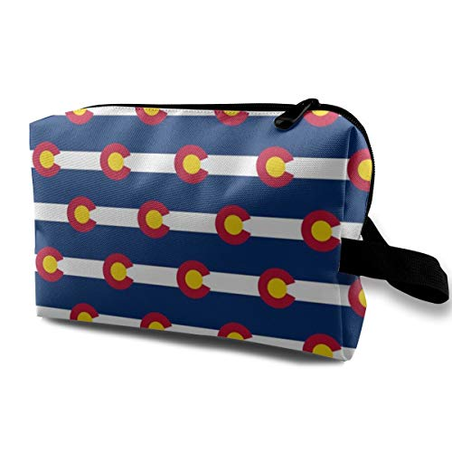 Colorado State Flag_967 Tragbare Reise Make-Up Kosmetiktaschen Organizer Multifunktions Fall Taschen für Frauen -