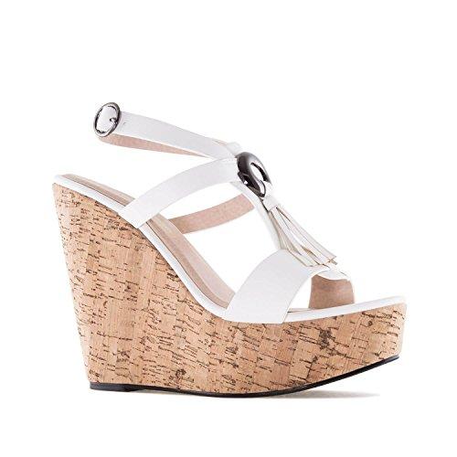6ae948e43a4cee Chaussures compensées en Soft avec Franges.pour Femmes.Petites