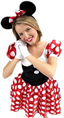 Confettery - Damen Minnie Mouse Maus Kostüm , S, (Mouse Minnie Sexy Halloween Kostüme)