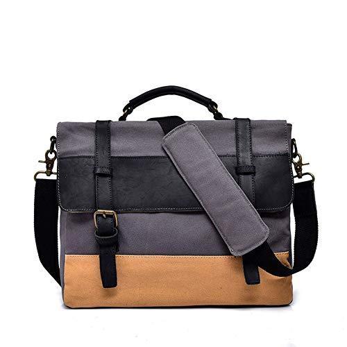 HWX 2018 Herrenhandtasche Big Bag Schulter Slung Horizontale Version Aktentasche (Farbe : Grau, Größe : 32CM*30CM*12CM)