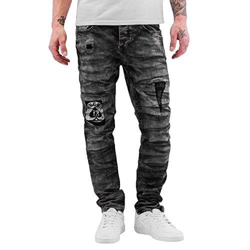 Bangastic Herren Jeans / Antifit Lucky 13 Schwarz
