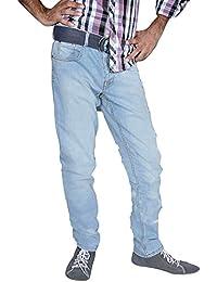 mode élégante de style denim 6 de poche bleu mens pantalon de jeans de pantalon