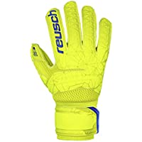 Reusch Fit Control SG Extra Finger Support - Guanti da Portiere da Uomo, Uomo, 3970830, Lime/Safety Yellow, 9.5