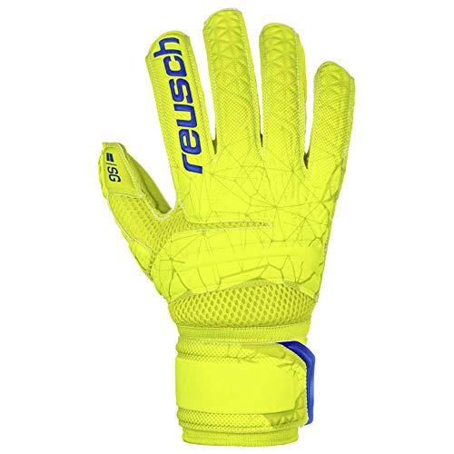 Reusch Herren Fit Control SG Extra Finger Support Torwarthandschuhe, Lime/Safety Yellow, 10.5