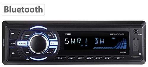 Creasono Autoradios: MP3-Autoradio mit Bluetooth, Freisprechfunktion, RDS, USB, SD, 4X 50 W (Autoradio DIN 1)