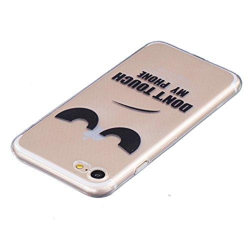 iPhone 7 Hülle, iPhone 7 Case Kreativ Bunt Muster Design Gel TPU Schutzhülle Transparent Soft Handy Tasche Hülle Case Cover Etui TPU Bumper Schale Schützt vor Schmutz und Kratzern für iPhone 7 (4,7 Zo Auge