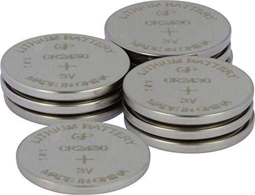 3V Lithium Knopfzellen CR 2430 (3 Volt) (10 Stück Knopfbatterien) einzeln entnehmbar ()