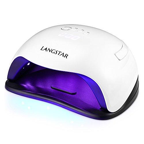 Nageltrockner LANGSTAR LED UV Lampe für Nägel, 48W/ 54W UV Led Nageltrockner 10/30/60/99s Timer,...