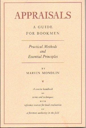 Appraisals: A Guide for Bookmen