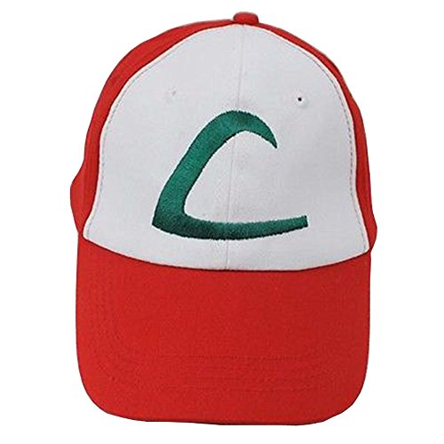 Pokemon Satoshi Ash Ketchum Season 1&5 Original Baseball Kappe Cap Hut Cosplay (Ash Kostüm Hut Pokemon)