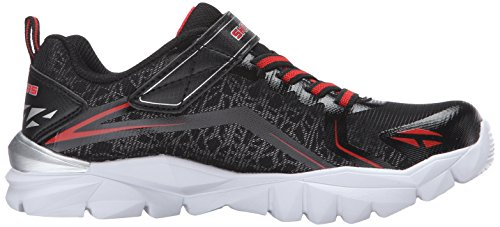 Skechers Electronz-Blazar Kids Fitness Trainers 95407N Lightwight black red strap Black/Red