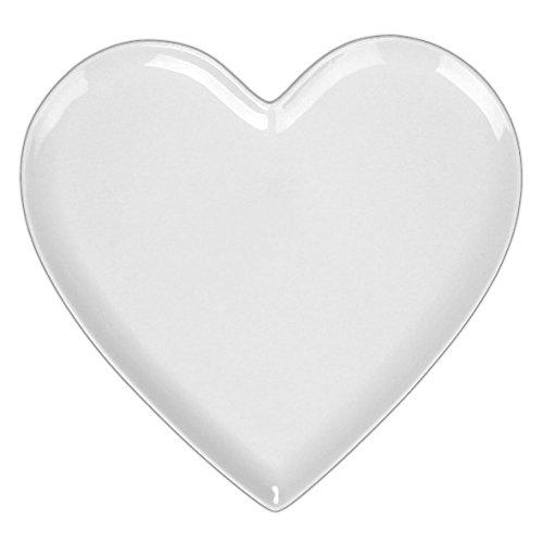 Holst Porzellan MPH 026 Herzteller/Herzplatte klassisch 26 cm, weiß, 30.5 x 31 x 2 cm