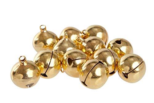 50 laute goldene Glöckchen aus Kupfer - ca. 23x19 mm - Kleenes Traumhandel®