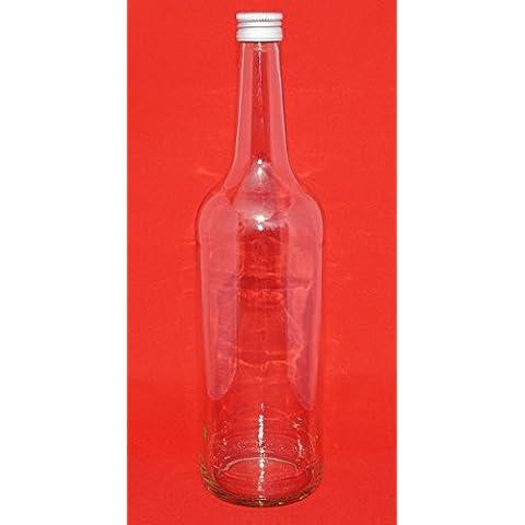 6 bottiglie di vetro vuote 1000 ml bottiglie di succo ml BOR con tappo a vite 1 litro. Ideale per il riempimento liquidi, come i liquori vino succhi di olio aceto, ecc di slkfactory