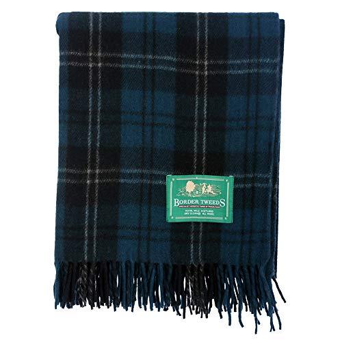 The Scotland Kilt Company Neu BNWT Schottische Überwurf Groß Wolle Tartan Teppich - Palette von Schottenkaros/Farben - Ramsay Blau, One Size