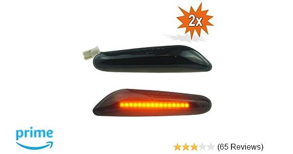 DoLED LED Seitenblinker Blinker schwarz black smoked mit E-Pr/üfzeichen