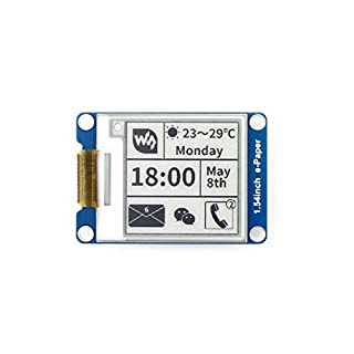 Waveshare 1.54 Inch E-Paper Display Panel Module Kit 200 * 200 Resolution3.3v E-Ink Electronic Screen for Raspberry Pi with SPI Interface Embedded Controller