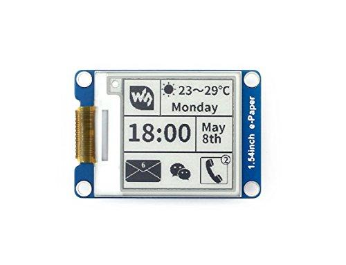 Waveshare 1.54 Inch E-Paper Display Panel Module Kit 3.3v E-Ink Electronic Screen for Raspberry Pi SPI Interface Screen Panel Kit