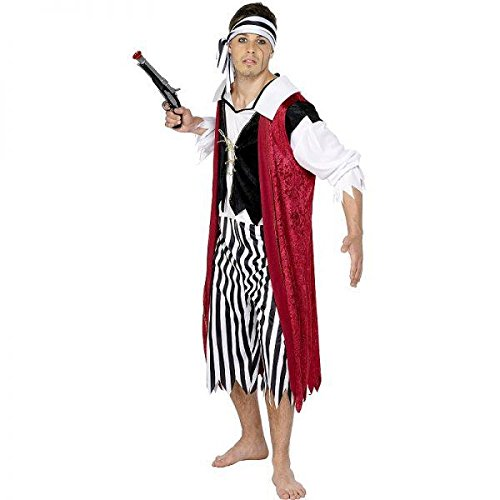 Bounty - Piraten König Kostüm für Herren (Größe M) (Piraten Kostüm Herren Uk)
