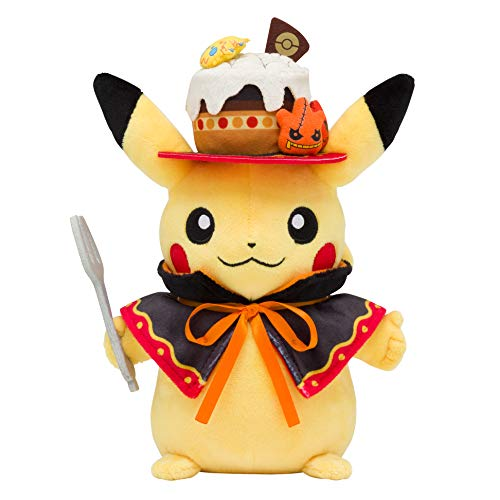 Pokemon Center Original Plush Doll We are Team Treat! Halloween Pikachu