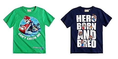 Super Mario Jungen T-Shirt - grün - 140