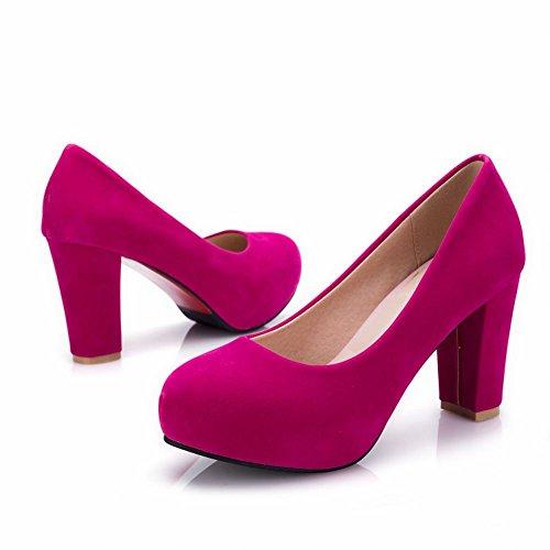 MissSaSa Donna Scarpe col Tacco Multicolore Comfort Rose Red