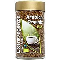 Extravaganza - Café arábica soluble ecológico de comercio justo, 100 g  (lote de 6)