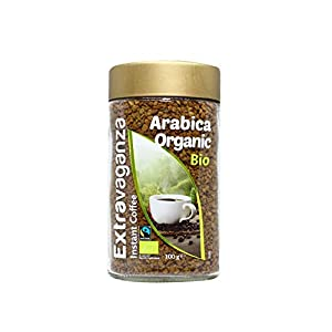 Extravaganza - Lot de 6 paquets de café instantané Arabica bio et issu du commerce équitable, 6 x 100 g