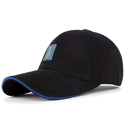 sdssup Geeignet für den großen Hut männlich vielseitige Kappe männlich koreanische Version der Straße Outdoor-Sport Baseballmütze Mode Kappe [Nacht Cursor] schwarz blau Rand einstellbar (56-60cm) (Koreanische Kostüm Männlich)