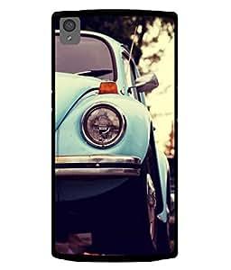 PrintVisa Designer Back Case Cover for OnePlus X :: One Plus X (The Vintage Car In Blue Design)