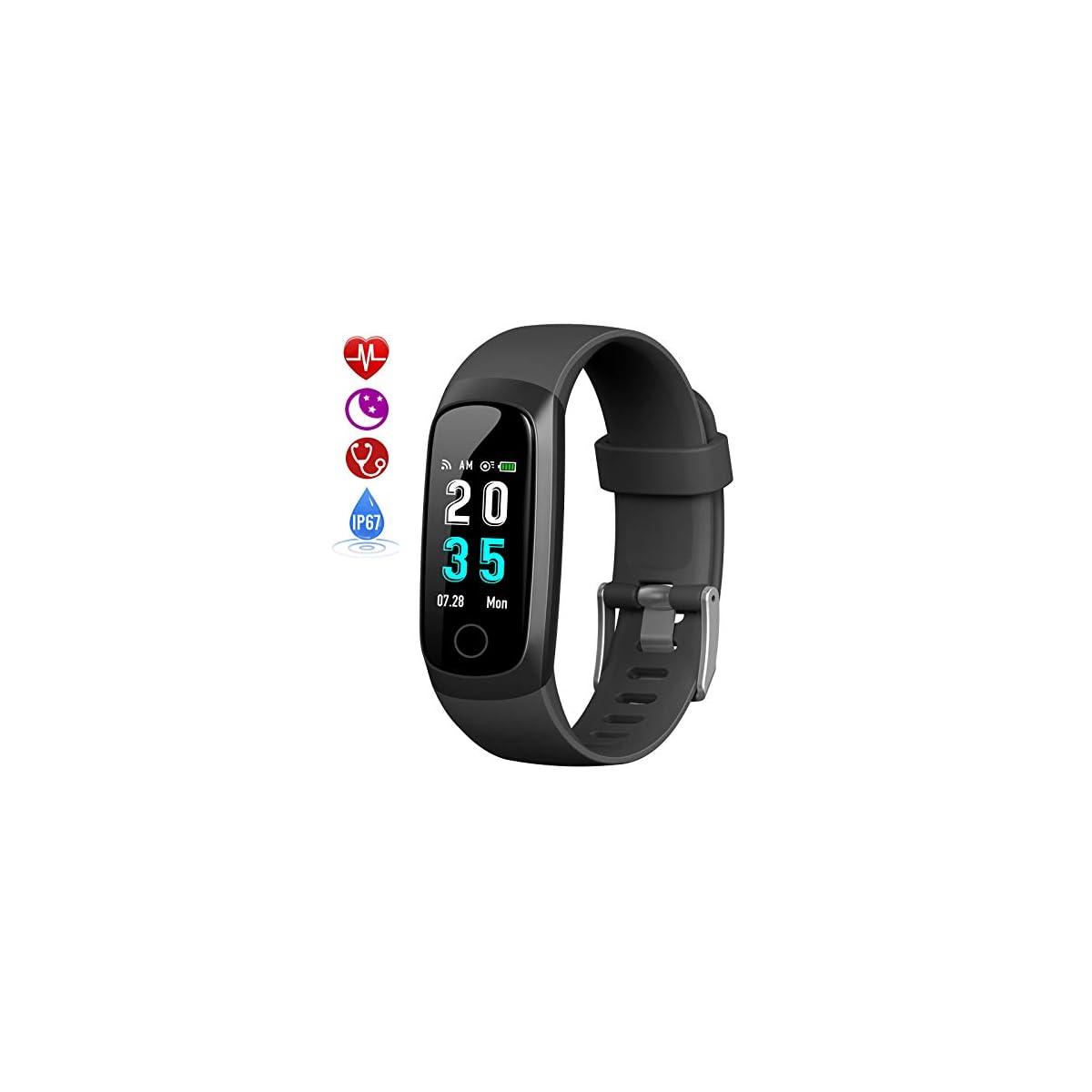 41JUKp6R09L. SS1200  - HETP Pulsera de Actividad Inteligente, Reloj Inteligente Hombre Mujer con Pulsómetro y Presión Arterial Reloj Deportivo Podómetro GPS Impermeable IP67 Cronómetro Smartwatch para Android iOS Teléfono