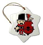 3dRose Ornaments, Porzellan, Weiß, 7,6 cm