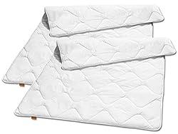 sleepling 2er Set 191123 Basic 100 Sommer Decke Mikrofaser leicht 135 x 200 cm, weiß