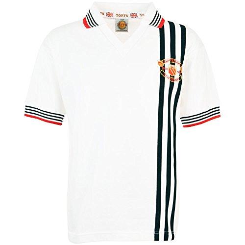 TOFFS Manchester United 1978 Centenary Away Retro Football Shirt (SMALL)