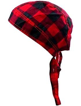 Cabeza de paño cuadriculado Hombre Mujer Niños cabeza tuecher Negro Rojo Cuadros Bandana Headscarf Punk Rock para...