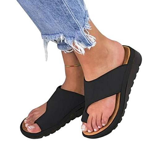 XQYPYL Damen Big Toe Hallux Valgus Unterstützung Plattform Sandale Schuhe für die Behandlung Sandalen Frauen Damen Bequeme Plattform Sandal Sommer Strand Reise Schuhe,06,39 - Unterstützen Sie Die Plattform