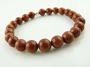 Sunsara - Red Goldstone Power Bead Bracelet, Buddha Bracelet, Healing Crystal Tikra