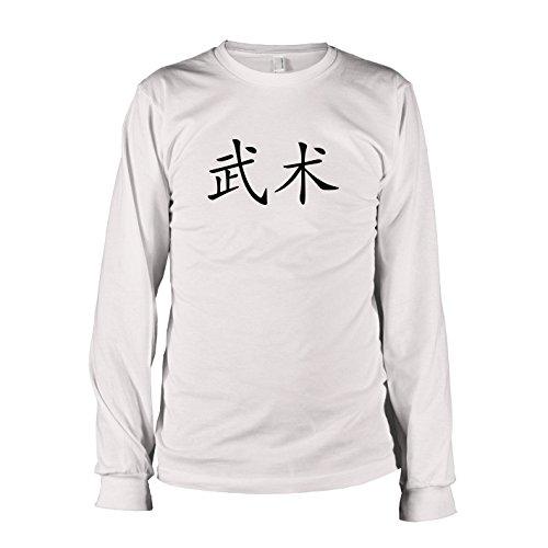 ren Langarm T-Shirt, Größe S, weiß (Yin Yang Kostüm)