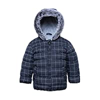 Rokka&Rolla Baby Boys' Water-Resistant Quilted Fleece Lined Puffer Jacket Coat for Newborn Infant Toddler