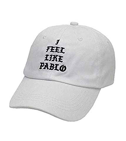 Amkun I Feel Like Pablo Hat Cap In Burgundy Baseball Caps The Life Of Pablo Dad Hats (White)