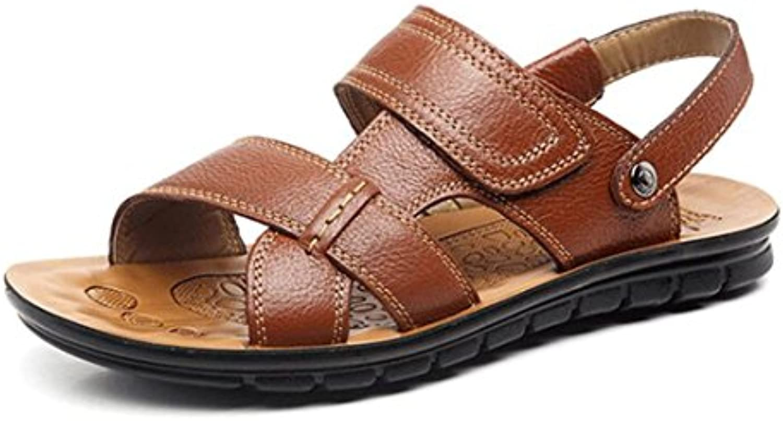 1486f39865c63f sandales pour hommes hommes hommes d'grrong cuir chaussures de plage et sandales  occasionnel bout ouvert b07ddb8y3n parent | Attrayant Et Durable d860fd
