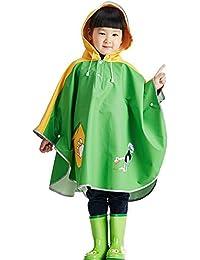 Highdas Enfants Cartoon Enfants Ruban Réfléchissant Sur Chapeau de Randonnée Cape/ Ponchos bébé Kids imperméable manteau PU
