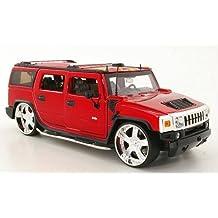 Hummer H2 Tuning, rot, Modellauto, Fertigmodell, Jada 1:24