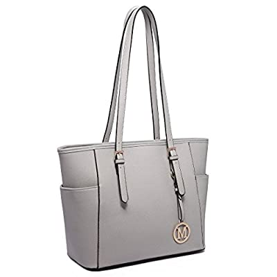 Miss Lulu Women Faux Leather Shoulder Handbag Adjustable Handle Large Tote Bag