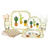 Shengtangb Piatti Natalizi Feste Piatti Carta Piatti di Carta Natalizi Tazza del Piatto di Cena del Piatto di Carta Eliminabile di Compleanno del Dolce del Partito del Cactus