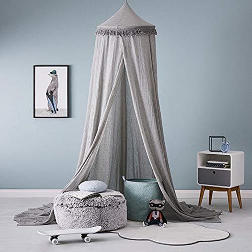 remote.S Cama para niños Canopy Dome Cuna Canopy Netting Baby Mosquito NetMosquito Mosquiteras con Luces Cama Canopy Netting Viaje de Vacaciones al Aire Libre
