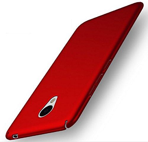 Apanphy Meizu M5 Note Hülle , Hohe Qualität Ultra Slim Harte Seidig Und Shell Volle Schutz Hinten Haut Fühlen Schutzhülle für Meizu M5 Note, Rot