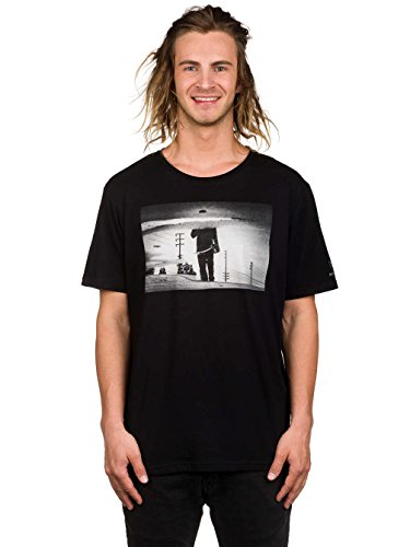 Herren T-Shirt Element French Fred T-Shirt Flint Black