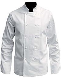 Veste de cuisine manches longues blanche - 2XL, Blanc